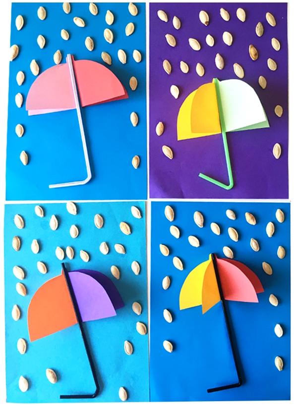 کاردستی چتر رنگی رنگی+قصه صوتی