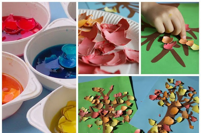کاردستی پاییز رنگارنگ+کاردستی مدرسه