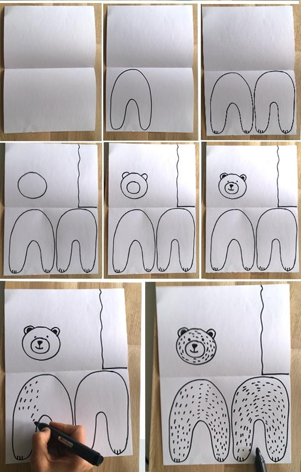 کاردستی خرس قطبی+کاردستی مدرسه