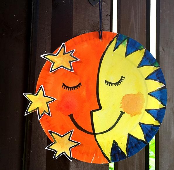 کاردستی مدرسه+ماه و خورشید