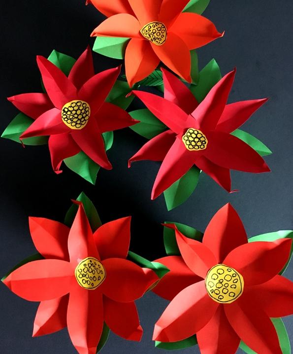 کاردستی22 بهمن+گل کاغذی