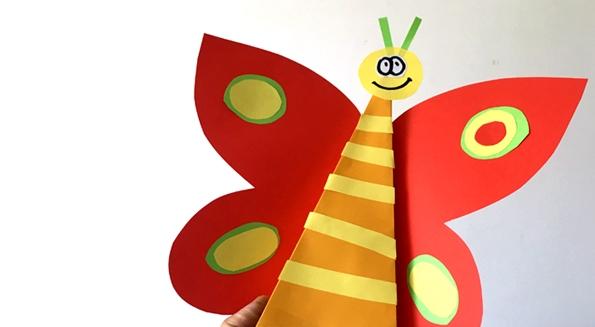 کاردستی برای مدرسه + کاردستی پروانه پولکی