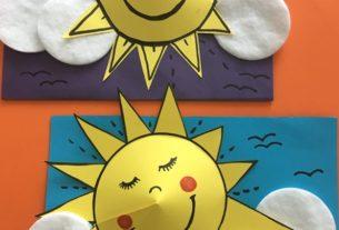 کاردستی خورشید خانم + کاردستی مدرسه