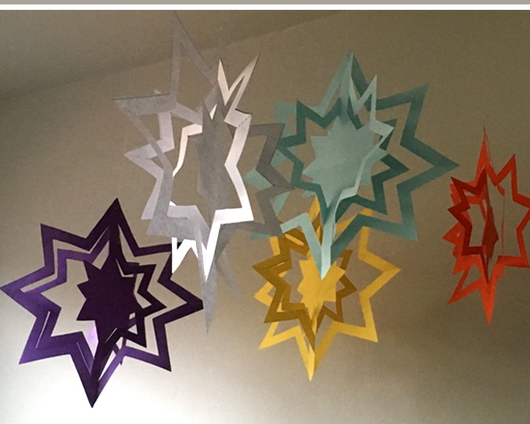 کاردستی ستاره رنگارنگ+کاردستی مدرسه