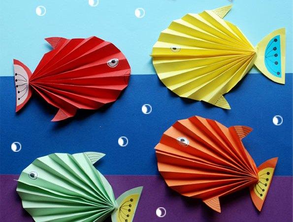 کاردستی مدرسه+ ماهی زرنگ