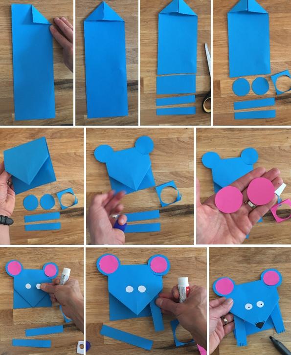 کاردستی مدرسه+موش کوچولوی بازیگوش