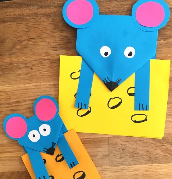 کاردستی مدرسه+ موش کوچولوی بازیگوش