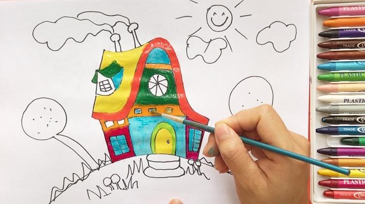 آموزش نقاشی به کودکان+قصه شب