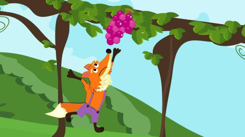روباه و خوشههای انگور (داستان کودک)