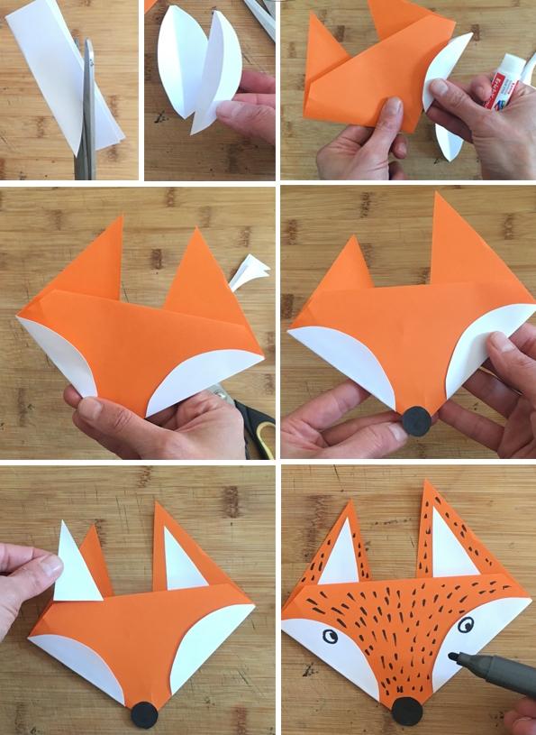 کاردستی مدرسه+ روباه مکار