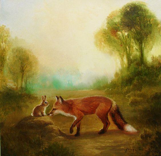 روباه و خرگوش (قصه کودکانه)
