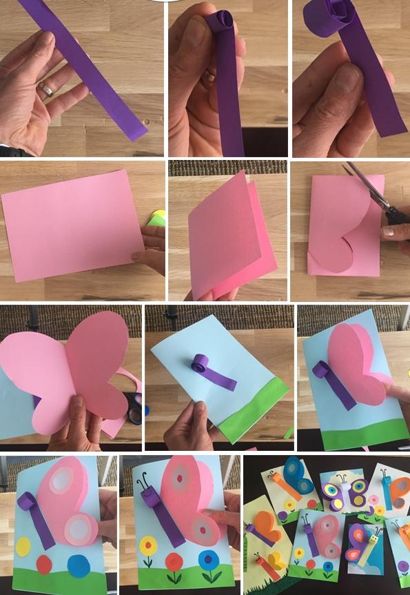 پاکت پروانه ای+ کاردستی برای مدرسه