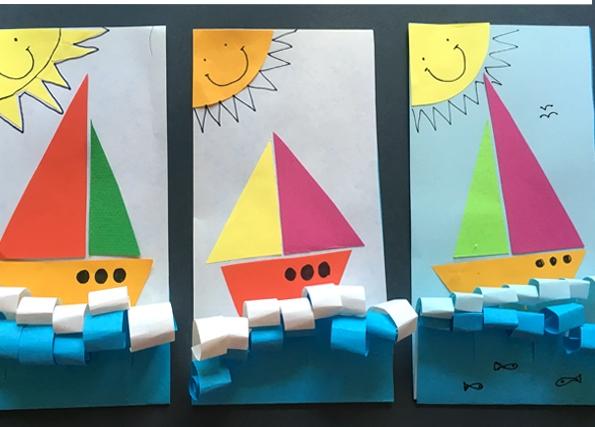 کاردستی مدرسه+ قایق رنگی