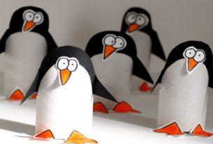 پنگوئن زبل+ کاردستی برای مدرسه