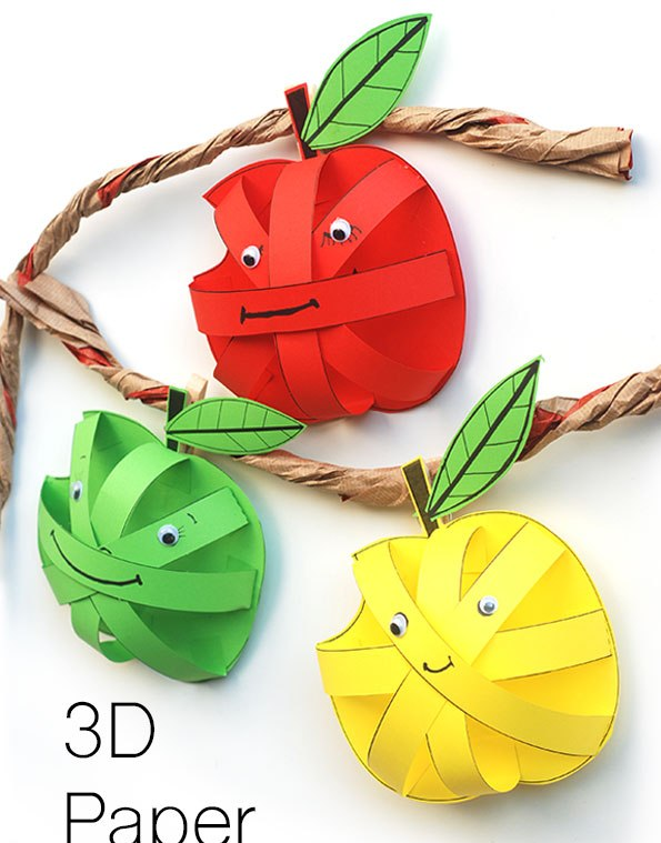 کاردستی مدرسه+ سیب سبز