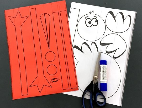 کاردستی مدرسه+ لک لک نوک قرمزی