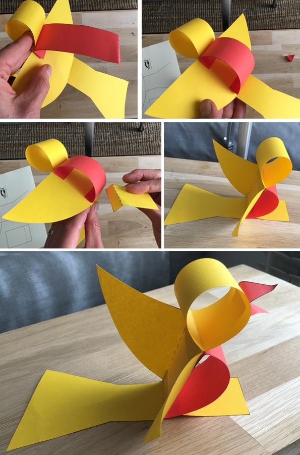 پرنده کاغذی+ کاردستی برای مدرسه