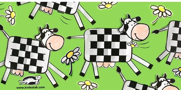 کاردستی مدرسه+ گاو کاغذی