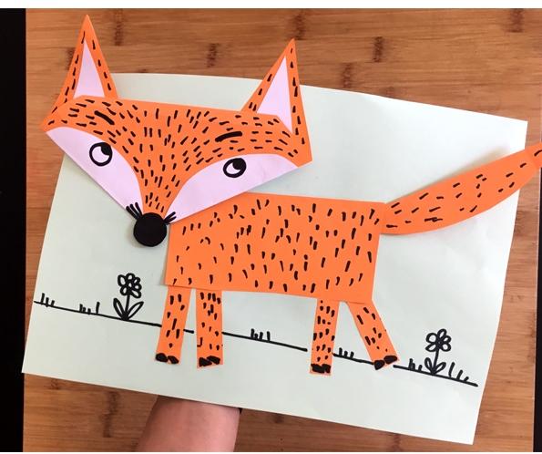 کاردستی روباه مکار + کاردستی برای مهدکودک