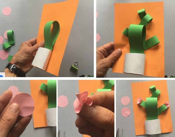 کاردستی مدرسه+ گلدان کاکتوس