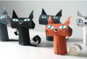 کاردستی مدرسه+ گربه ملوس