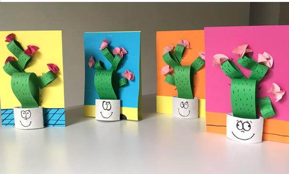 کاردستی مدرسه+گلدان کاکتوس