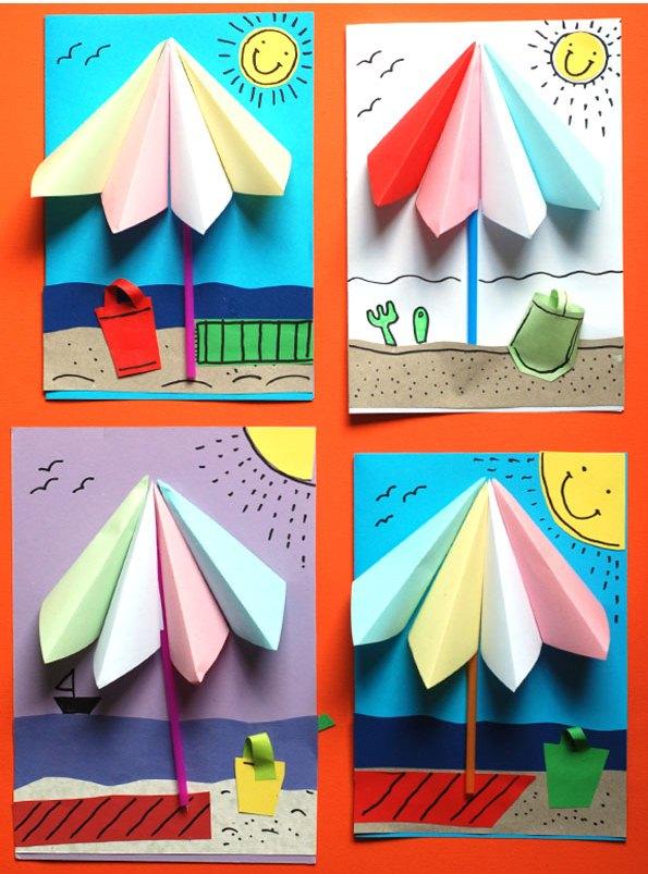 چتر رنگی+ گاردستی بهاری