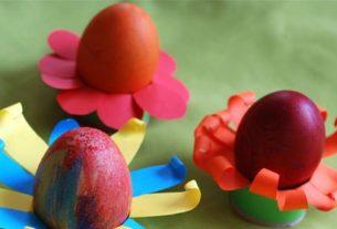 تخم مرغ رنگی+ کاردستی بهاری