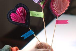 قلب کاغذی+ کاردستی بهاره