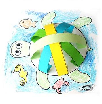 لاکپشت رنگی+ کاردستی بهاری