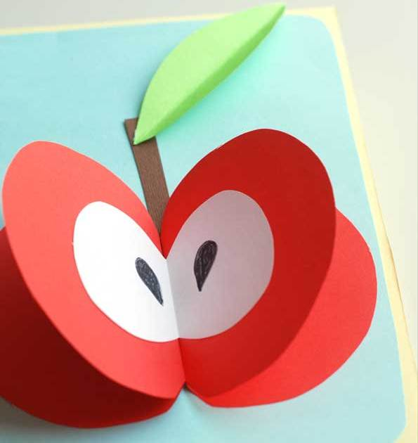 سیب قرمز+ کاردستی بهاره