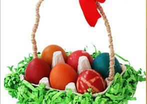 سبد تخم مرغ+ کاردستی بهاری