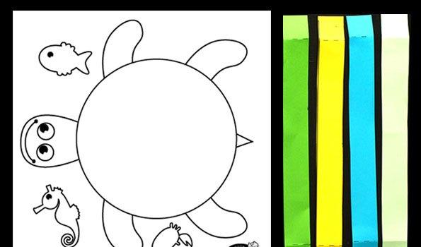 لاکپست رنگی+ کاردستی بهاری