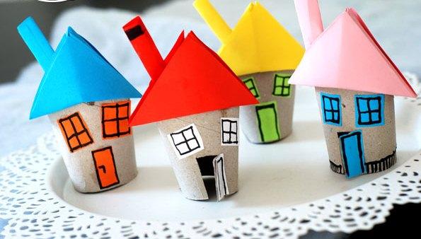 خانه کاغذی + کاردستی بهاری
