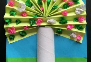 درخت رنگارنگ+ کاردستی بهاری