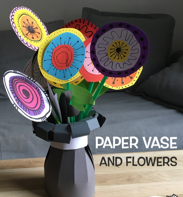 گلدان گل+ کاردستی بهاره