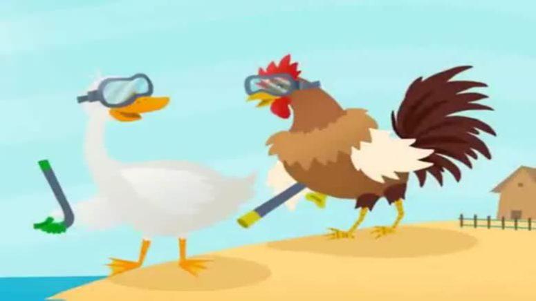 خروس، اردک و پری دریایی( قصه کودکانه)